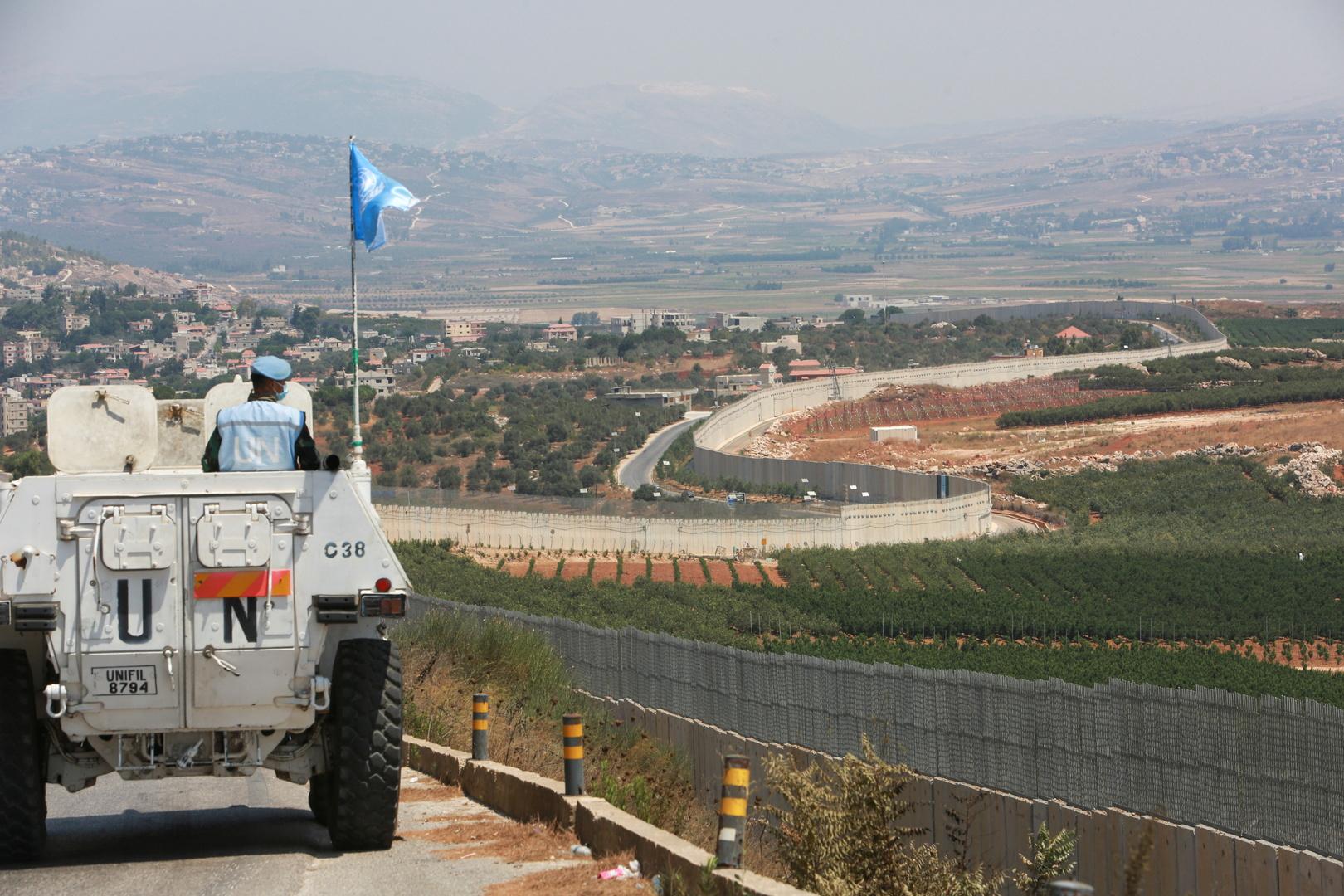 مركبة لقوات اليونيفيل في جنوب لبنان