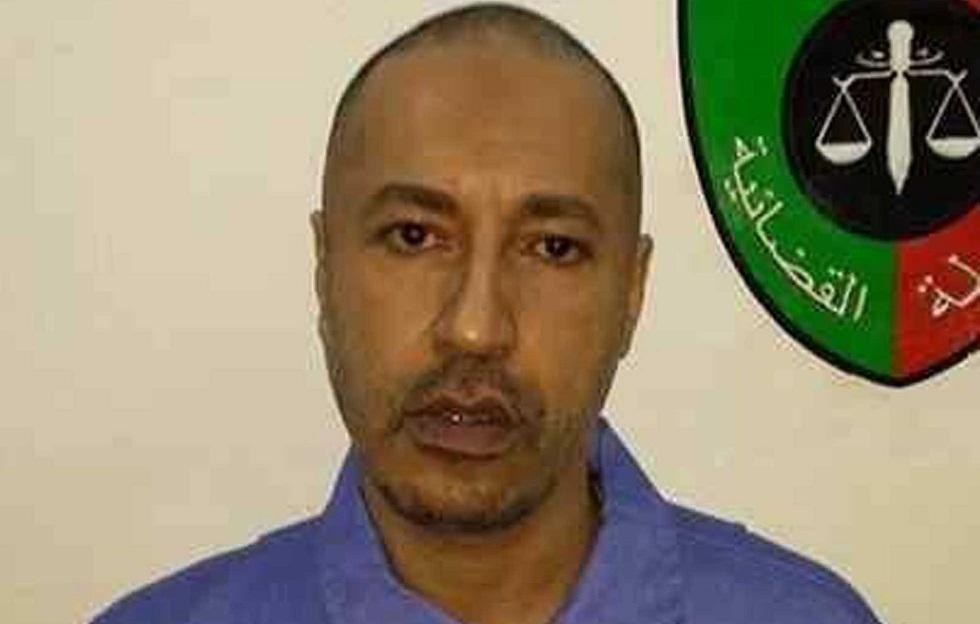 الساعدي القذافي خلال فترة احتجازه