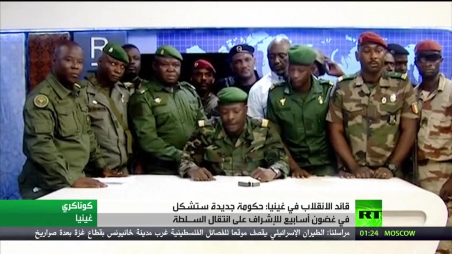 تنديد دولي بالانقلاب العسكري في غينيا ومطالبة بعودة النظام الدستوري في البلاد