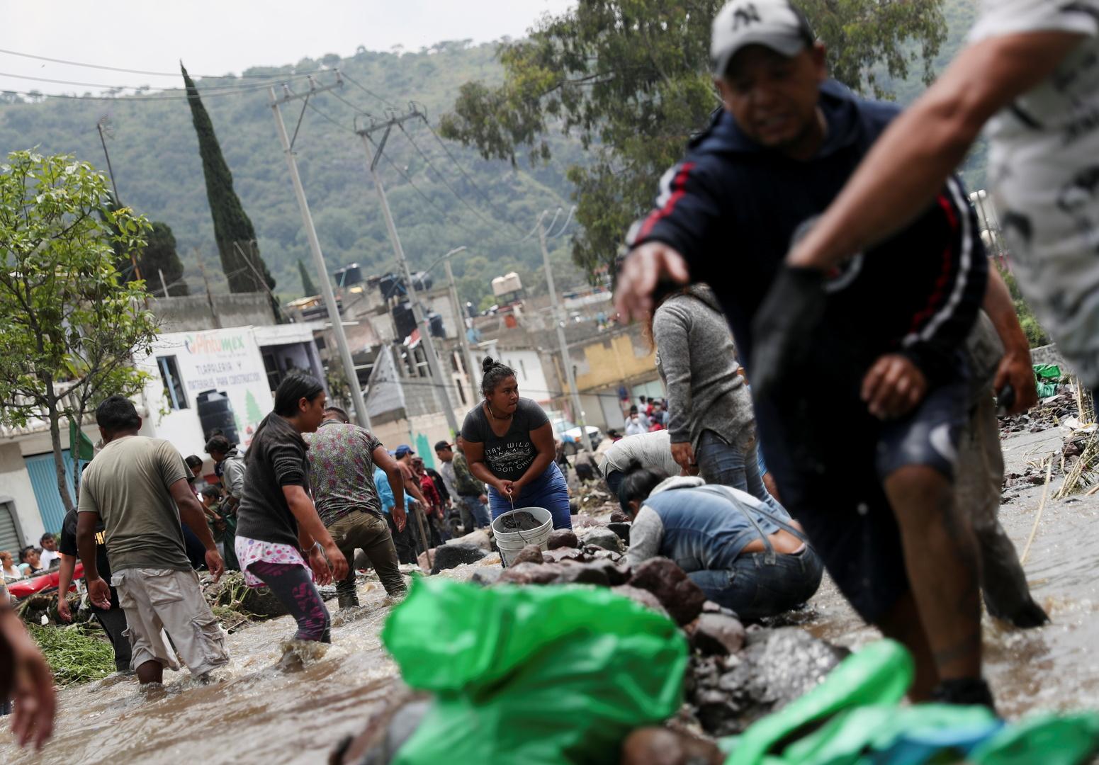 تبعات فيضانات ضربت المكسيك يوم 6 سبتمبر.
