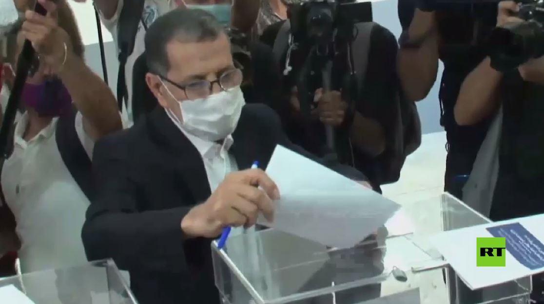 بالفيديو.. سعد الدين العثماني و نزار بركة يدلاني بصوتيهما في الانتخابات النيابية المغربية