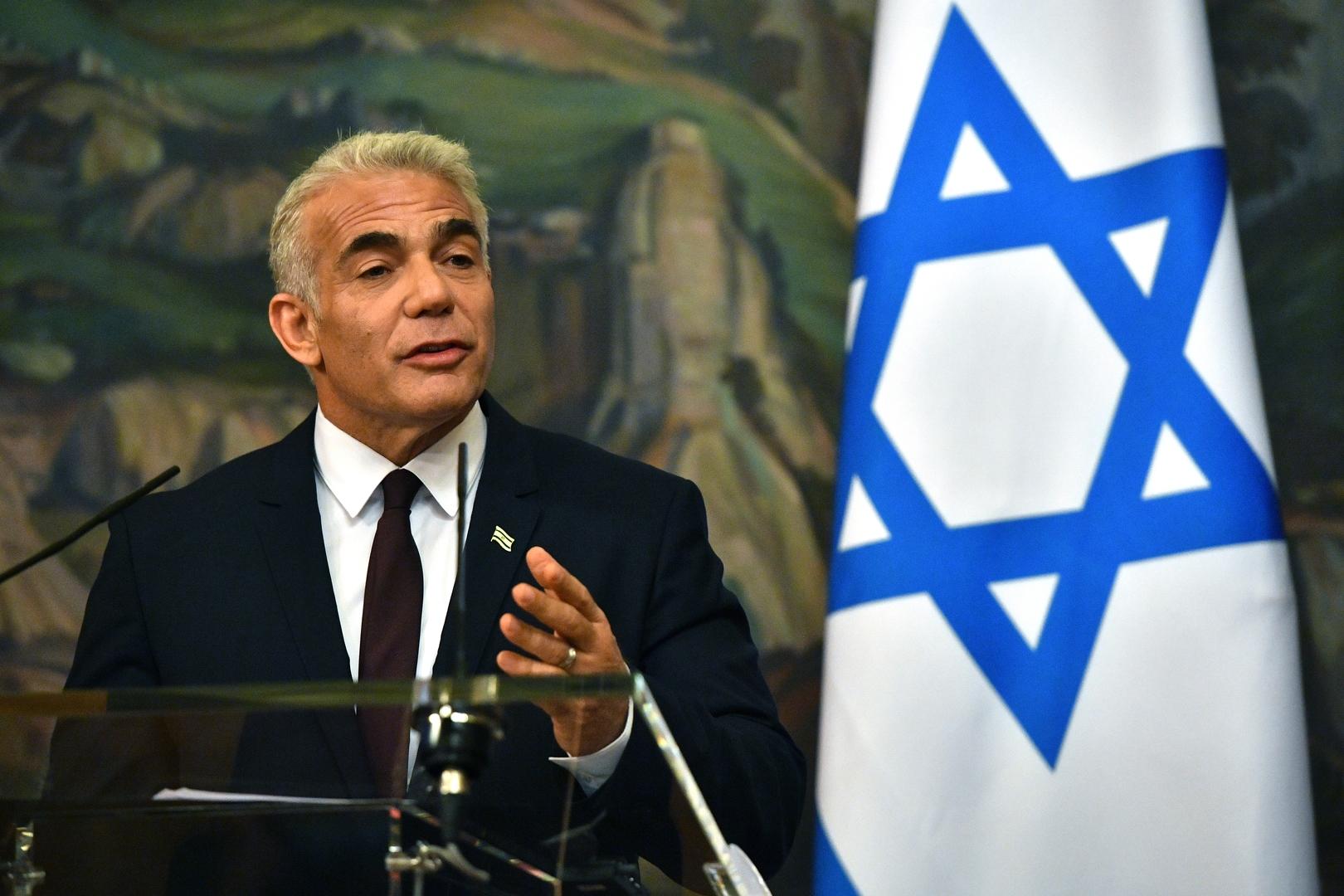 لابيد: إسرائيل قد تبحث مع روسيا اتصالات محتملة مع حكومة سوريا لكن مسألة الجولان ليست للنقاش