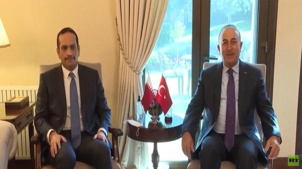 مباحثات وزير الخارجية القطري في أنقرة
