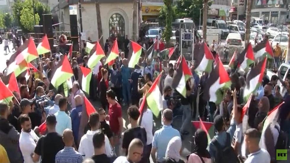 مسيرات بالضفة دعما للأسرى الفلسطينيين