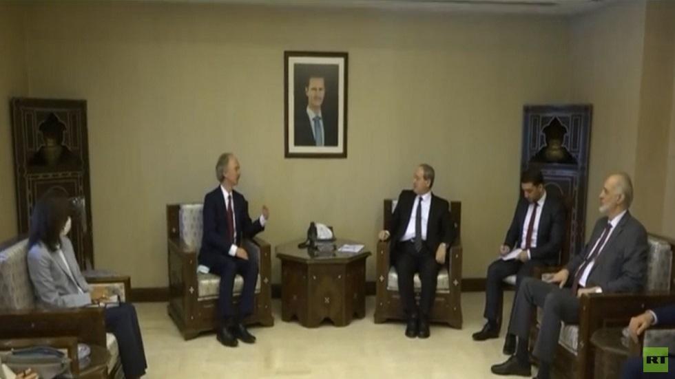 محادثات بيدرسون مع القيادة السورية في دمشق