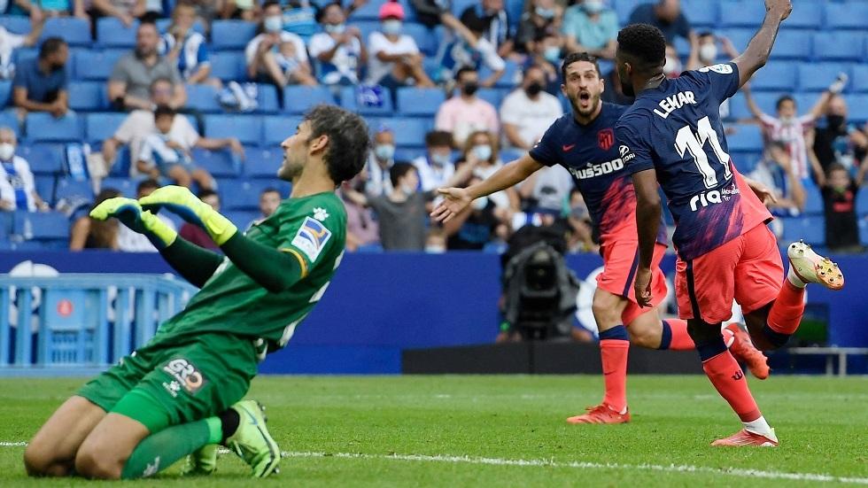أتلتيكو مدريد يقلب الطاولة على إسبانيول في الوقت القاتل