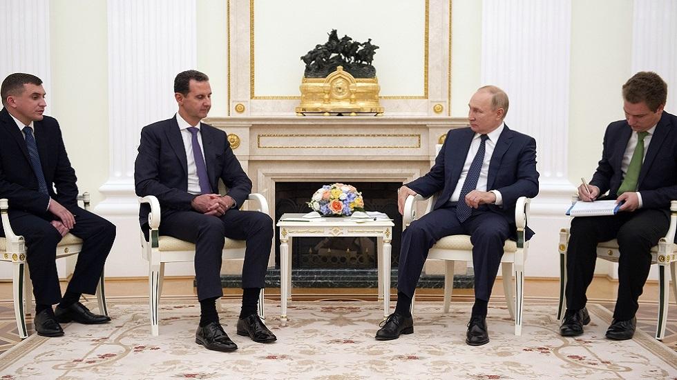 بوتين للأسد في الكرملين: مشكلة سوريا الأساسية هي الوجود غير الشرعي لقوات أجنبية على أراضيها