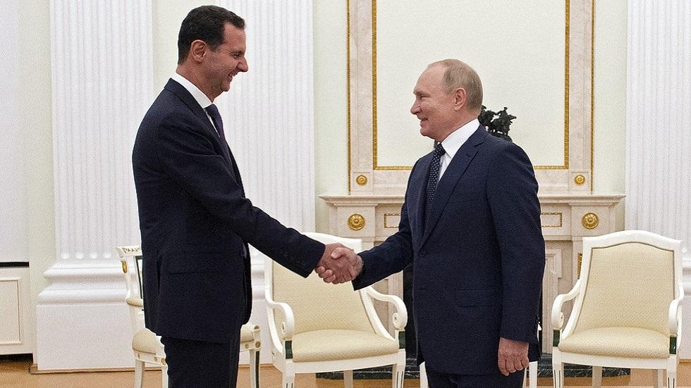 بوتين يهنئ الأسد بمناسبتين إحداهما عيد ميلاده