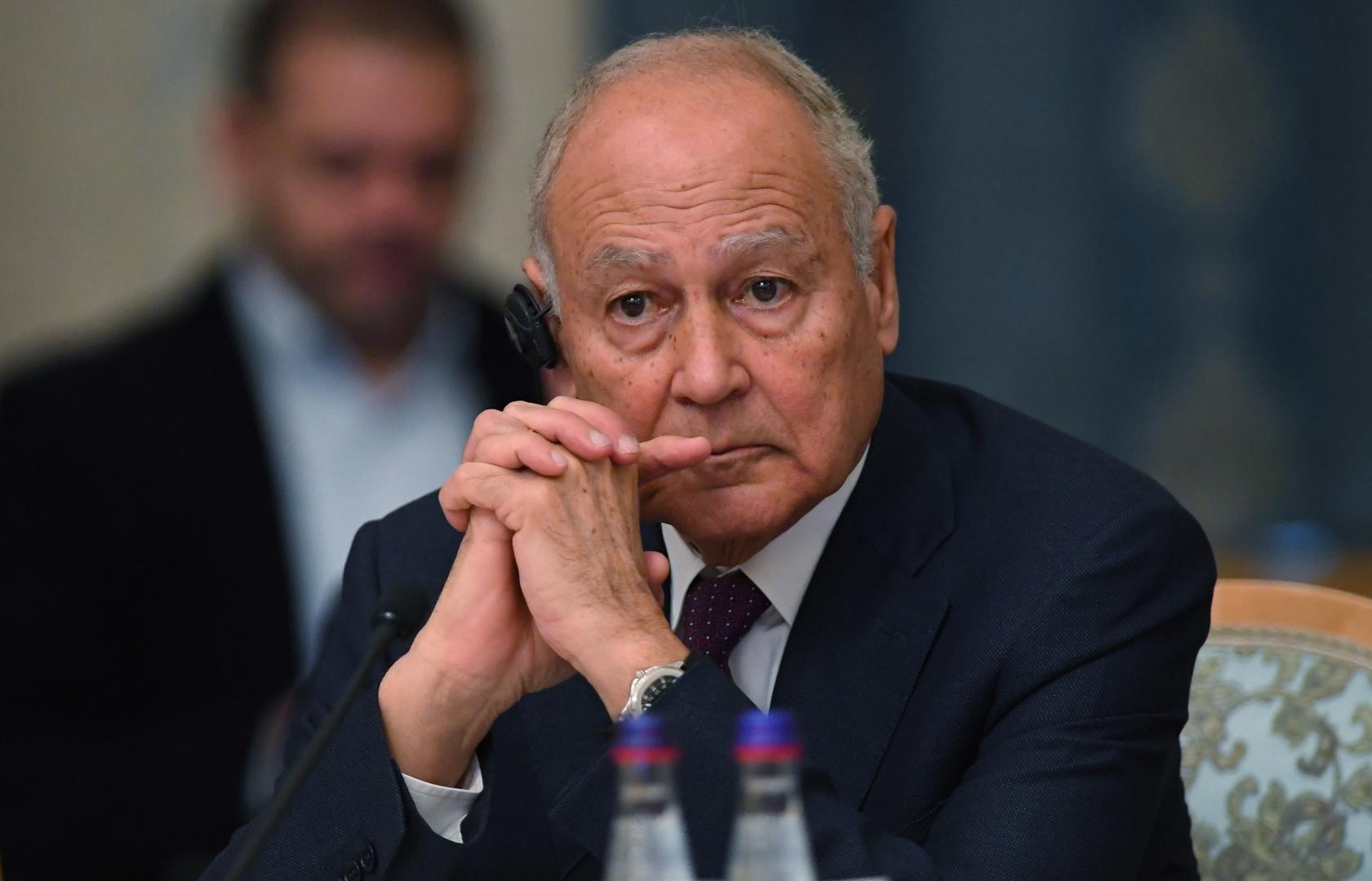 أبو الغيط للكاظمي: الجامعة العربية تدعم دور العراق النشط في محيطه العربي والإقليمي (صورة)