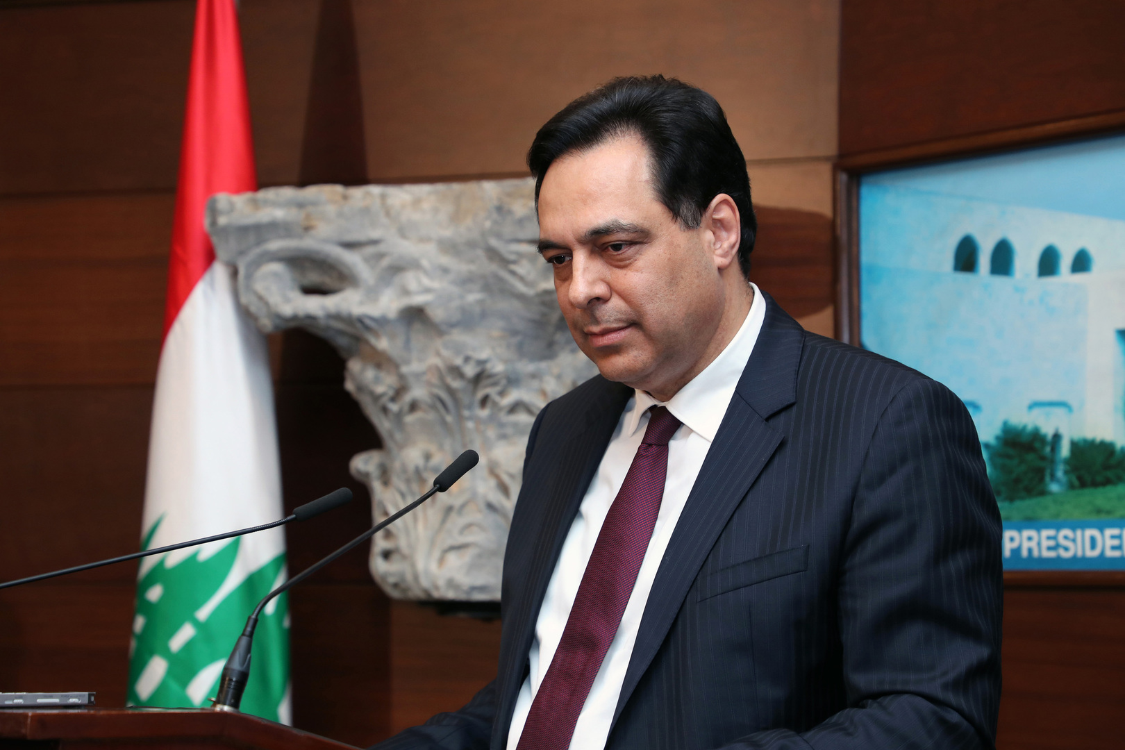 رئيس الحكومة اللبناني السابق حسان دياب