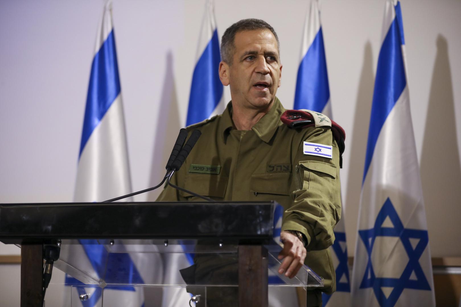 قائد الأركان الإسرائيلي لا يستبعد شنّ عملية عسكرية واسعة في الضفة الغربية