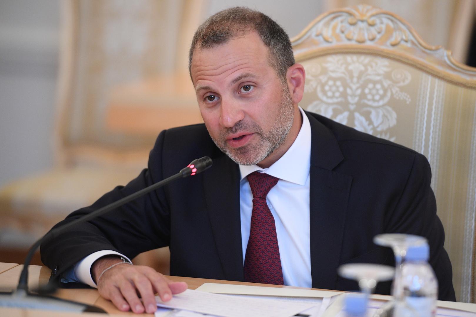 رئيس التيار الوطني الحر في لبنان جبران باسيل