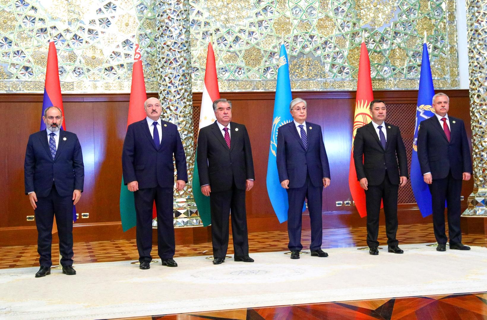قادة منظمة معاهدة الأمن الجماعي يوافقون على خطة لتجهيز القوات المشتركة بالأسلحة الحديثة