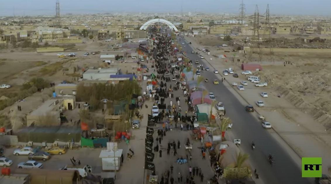 الآلاف ينطلقون مشيا على الأقدام إلى كربلاء للمشاركة في زيارة الأربعين