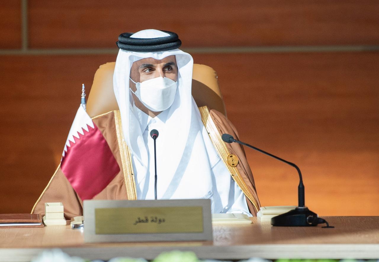 أمير قطر يبعث برقية تعزية إلى العاهل السعودي