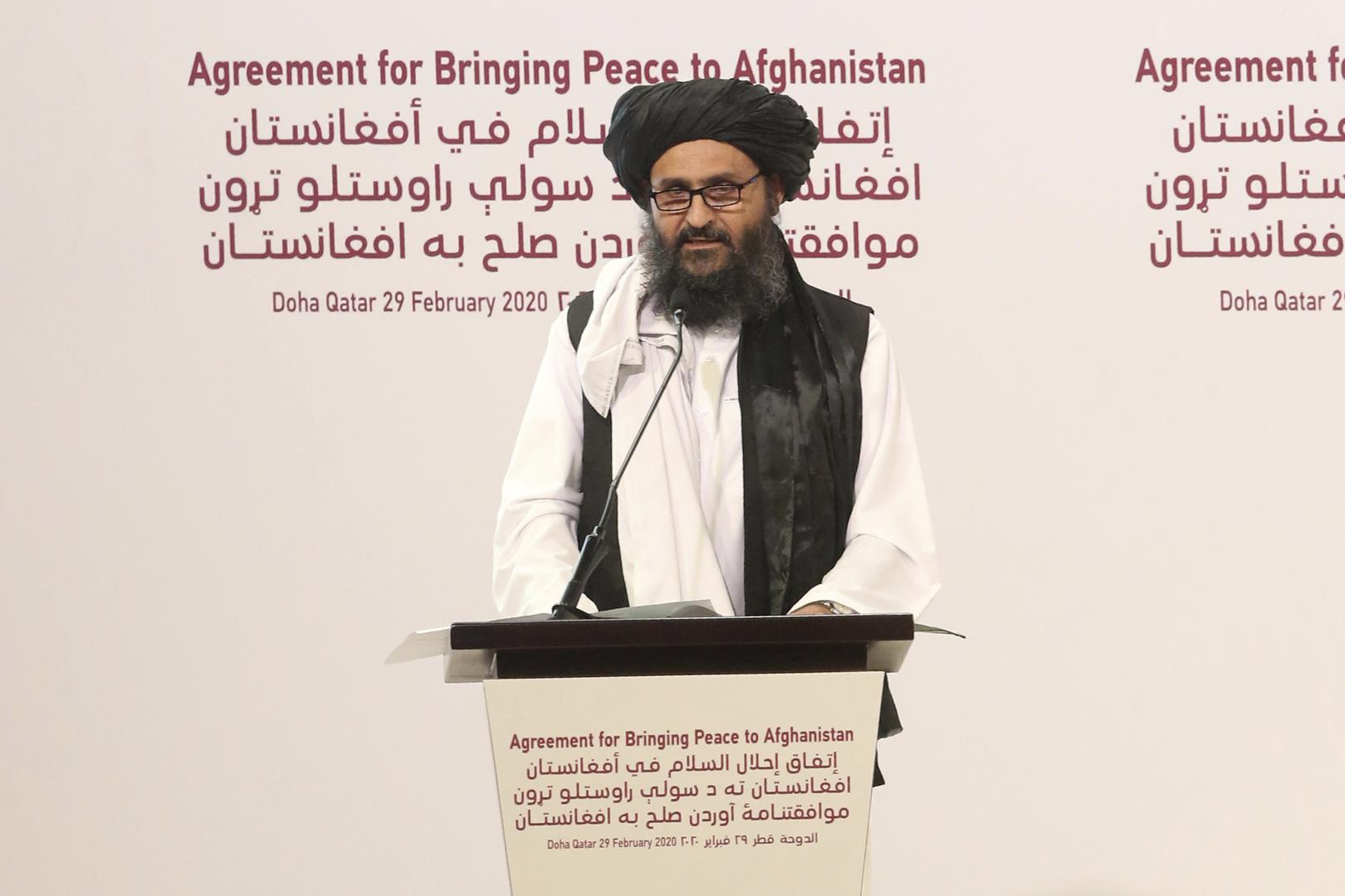 رئيس حكومة طالبان عبد الغني برادر