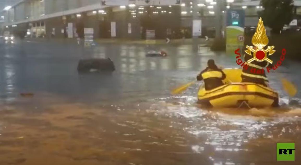 أمطار غزيرة مفاجئة تغمر ميلانو الإيطالية
