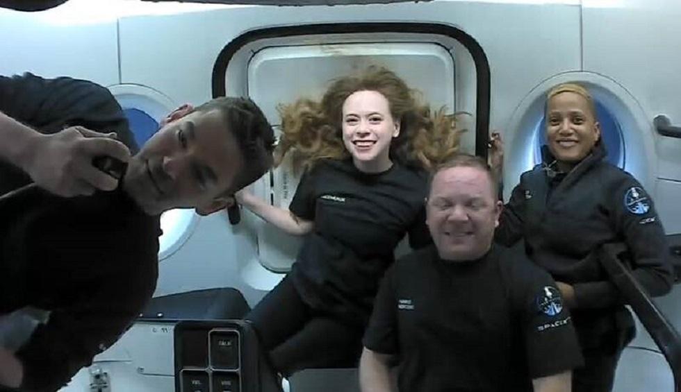 صورة لأول رحلة خاصة إلى الفضاء تنفذها