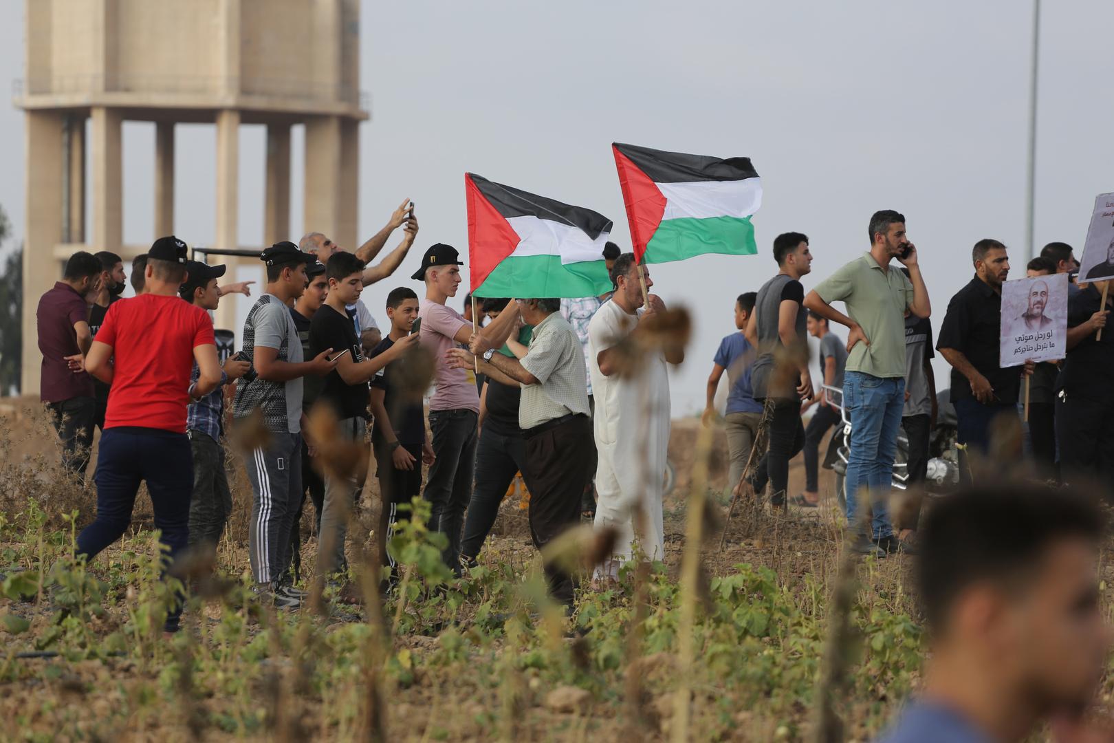 فلسطينيون داخل الخط الأخضر يتظاهرون أمام سجن