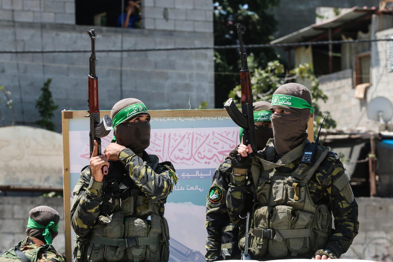 عناصر من حركة حماس الفلسطينية