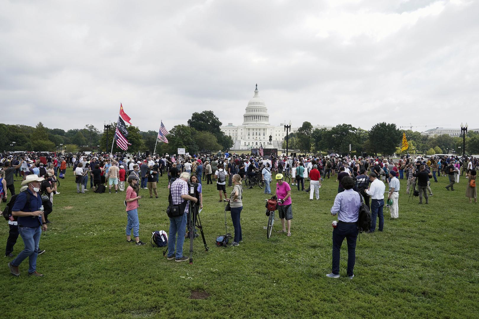 احتجاج أمام الكابيتول الأمريكي دعما للمعتقلين على خلفية اقتحام الكونغرس