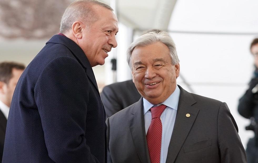 أردوغان وغوتيريش يبحثان الأوضاع في أفغانستان وسوريا وليبيا