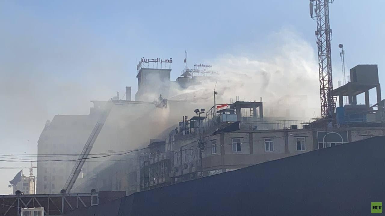 العراق.. اندلاع حريق بالقرب من مرقد الإمام الحسين في كربلاء