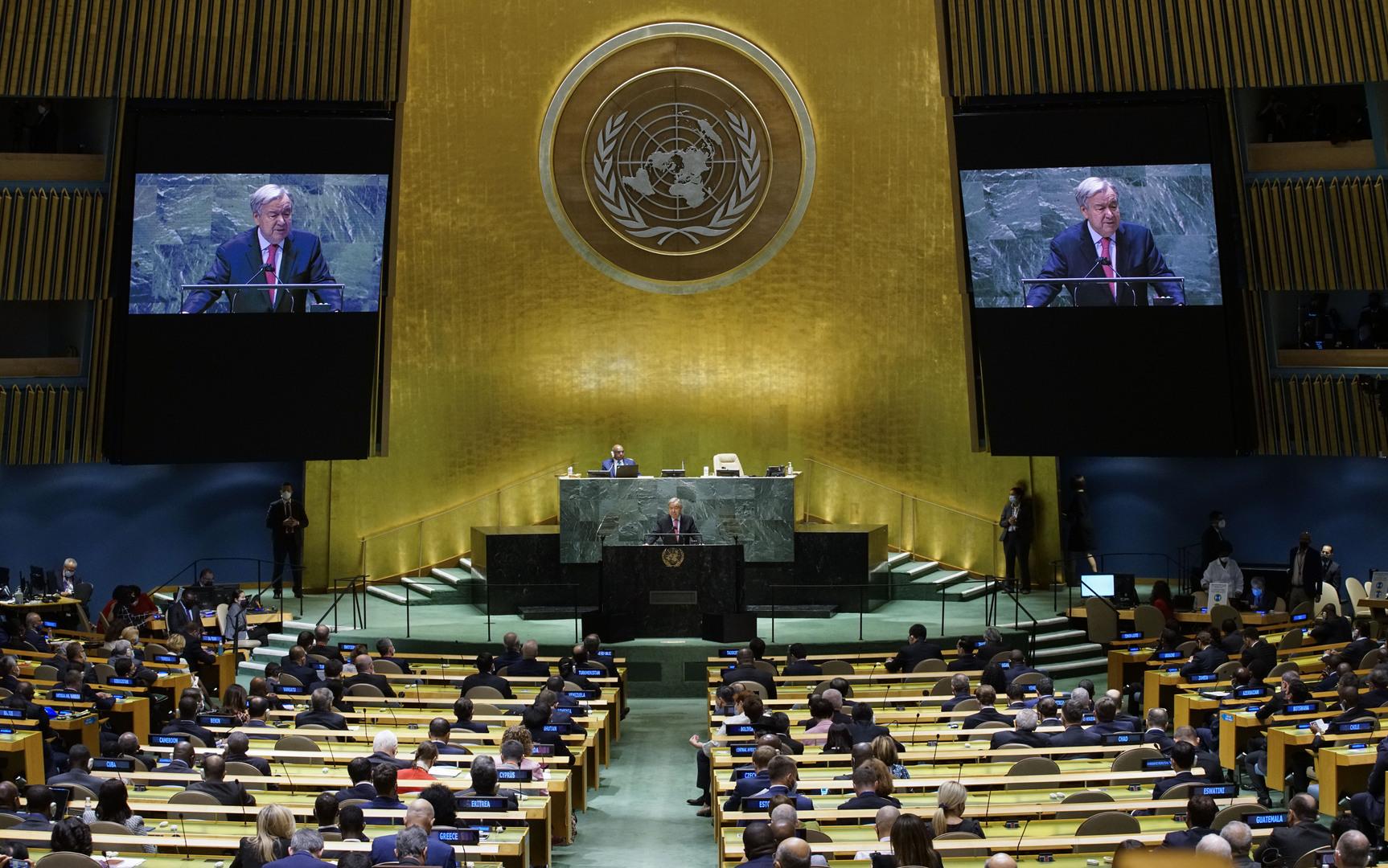 انطلاق مناقشات الأسبوع الرفيع المستوى ضمن إطار الجمعية العامة للأمم المتحدة في نيويورك