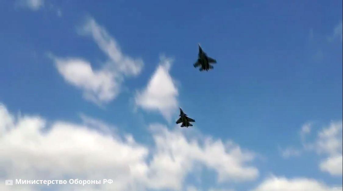 مقاتلات سو-30 تضرب أهدافا برية أثناء التدريب في مقاطعة كالينينغراد