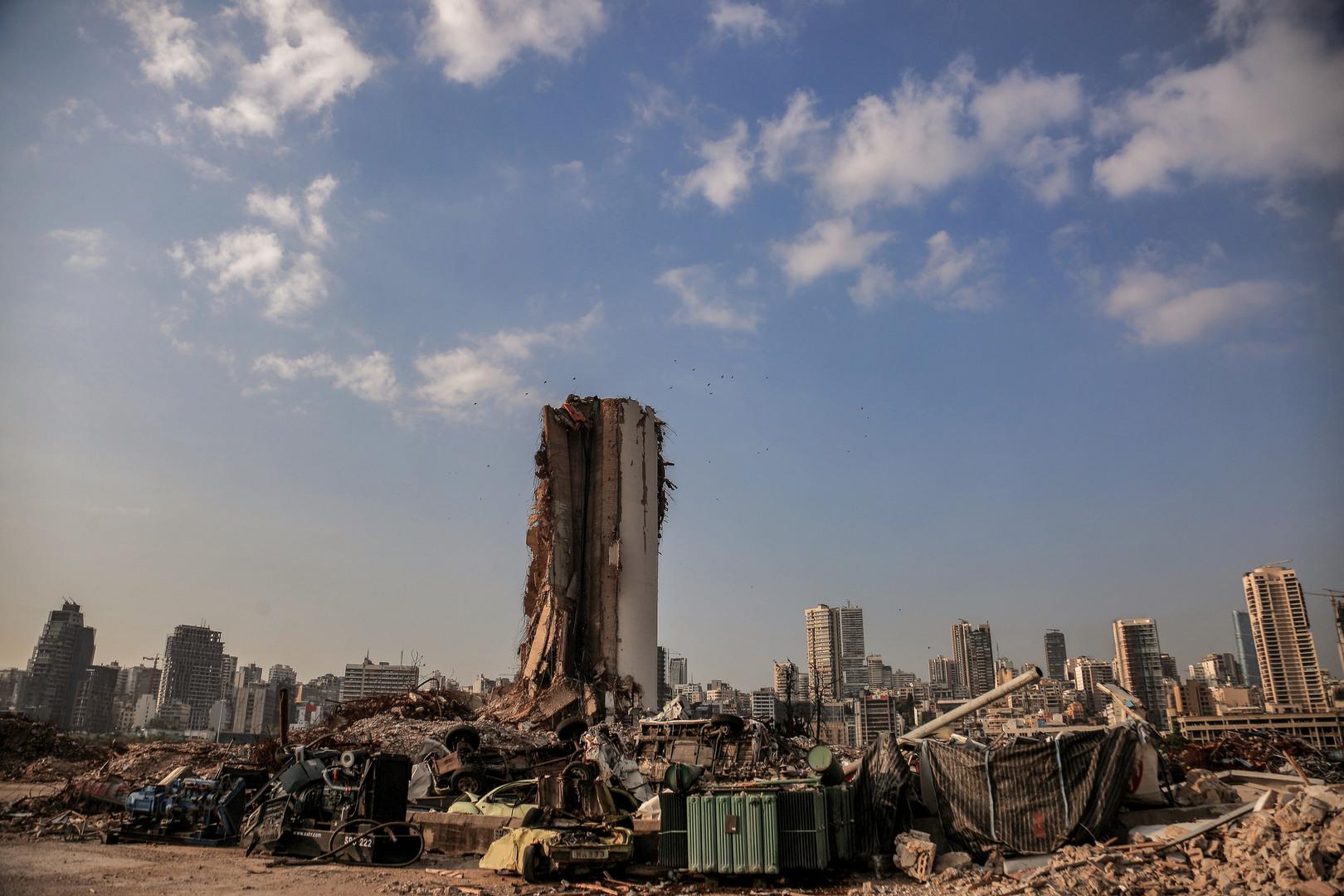 مرفأ العاصمة اللبنانية بيروت بعد تعرضه لانفجار في 4 أغسطس 2020