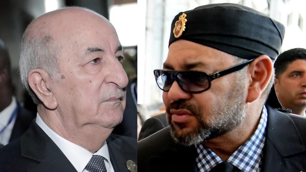 العاهل المغربي الملك محمد السادس والرئيس الجزائري عبد المجيد تبون