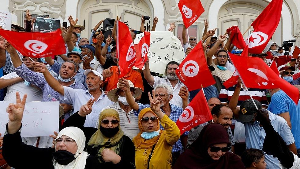 مظاهرة لمناهضي الرئيس التونسي قيس سعيد
