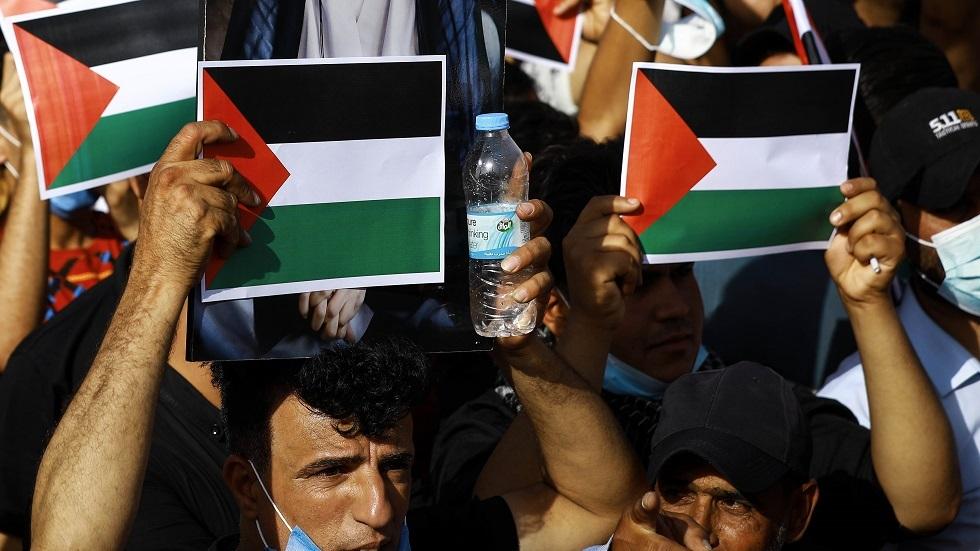 مظاهرات لنصرة القضية الفلسطينية في بغداد -أرشيف-