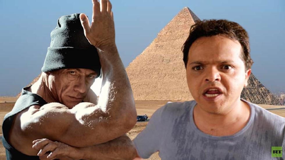 الفنان المصري محمد هنيدي والممثل الأمريكي جون كلود فان