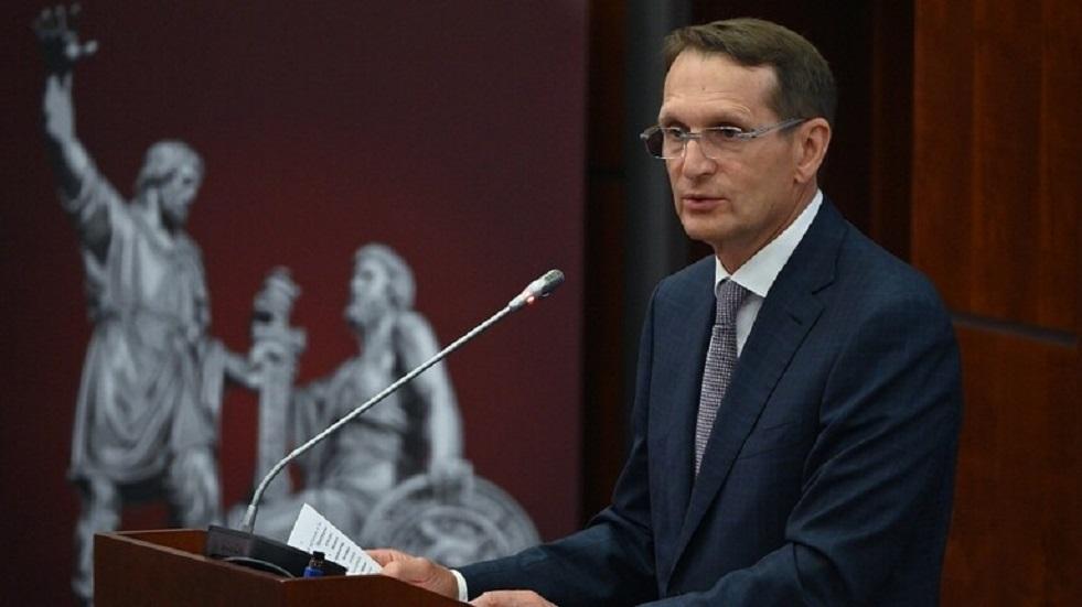 ناريشكين يتحدث عن التعاون الدولي للاستخبارات الروسية حول أفغانستان
