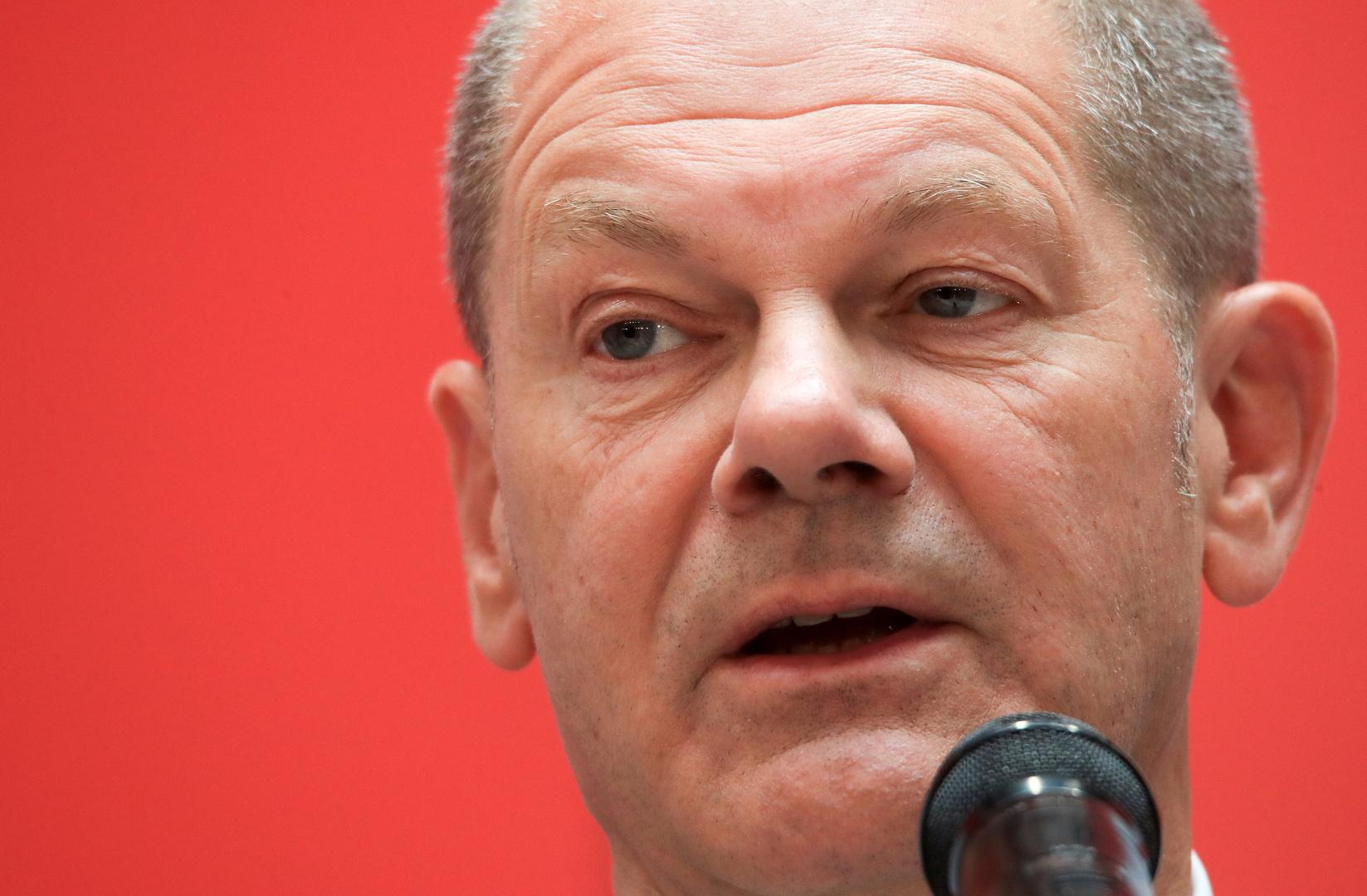 زعيم الحزب الاشتراكي الديمقراطي الألماني أولاف شولتز