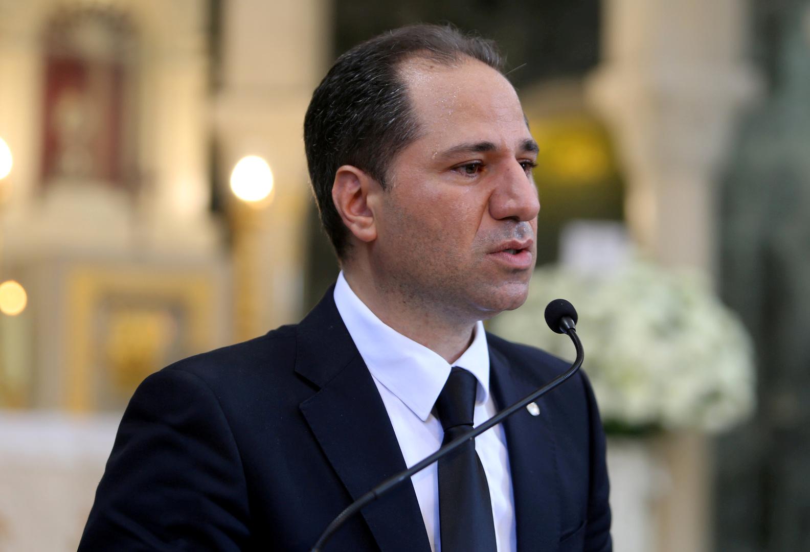 رئيس حزب الكتائب اللبنانية سامي الجميل