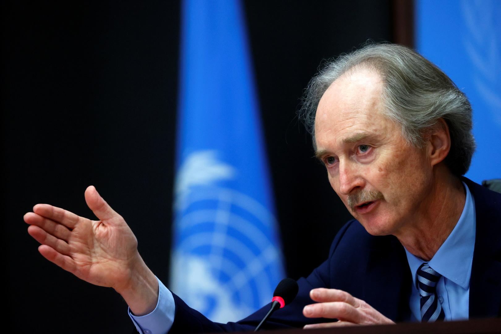 بيدرسن يأمل بمساهمة لقاء بوتين وأردوغان في تعزيز وقف إطلاق النار بسوريا