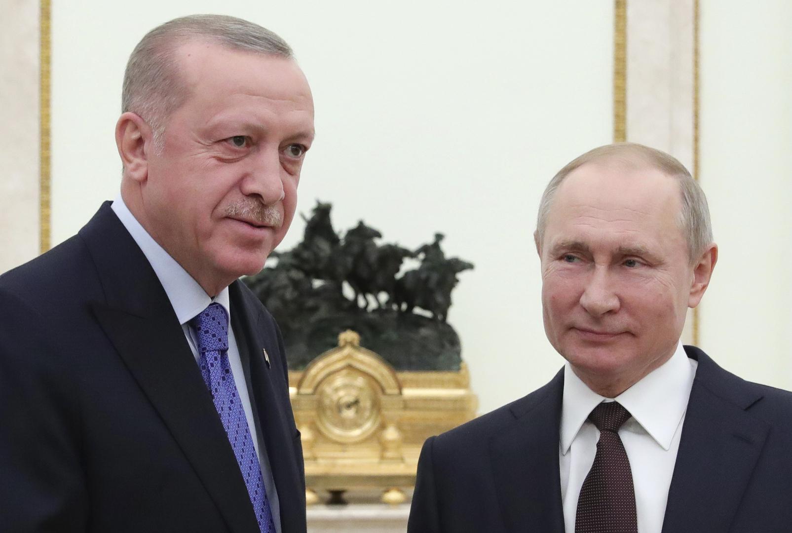 أردوغان: السلام في سوريا مرتبط بالعلاقات بين روسيا وتركيا