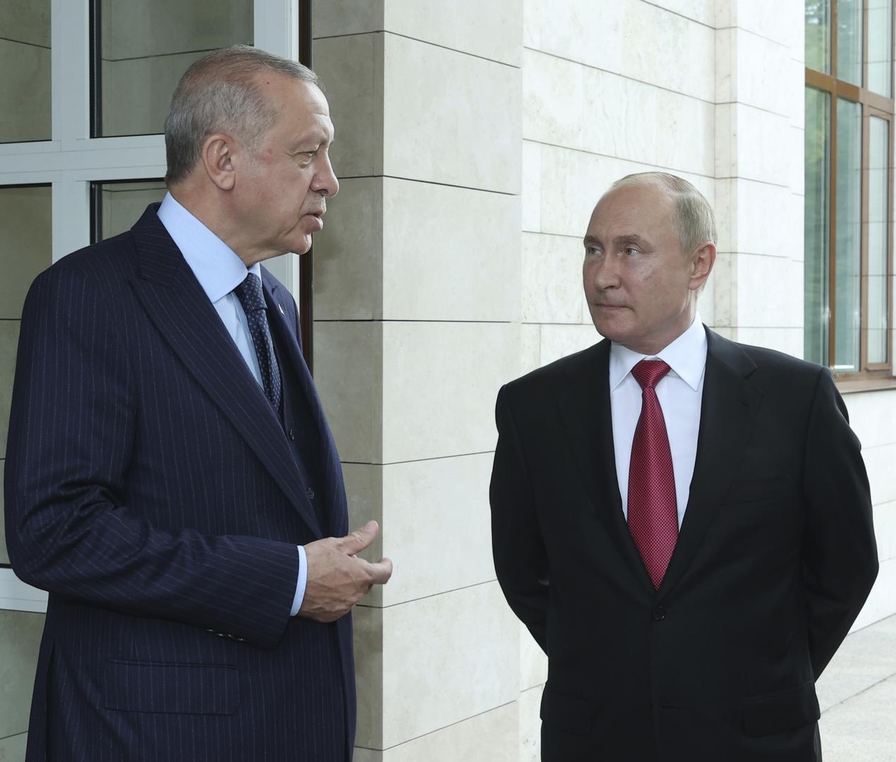 الكرملين: بوتين وأردوغان أكدا التزامهما بطرد الإرهابيين من إدلب