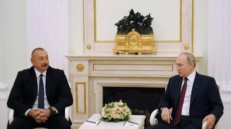 علييف: بوتين لعب دورا فعالا في تسوية نزاع قره باغ
