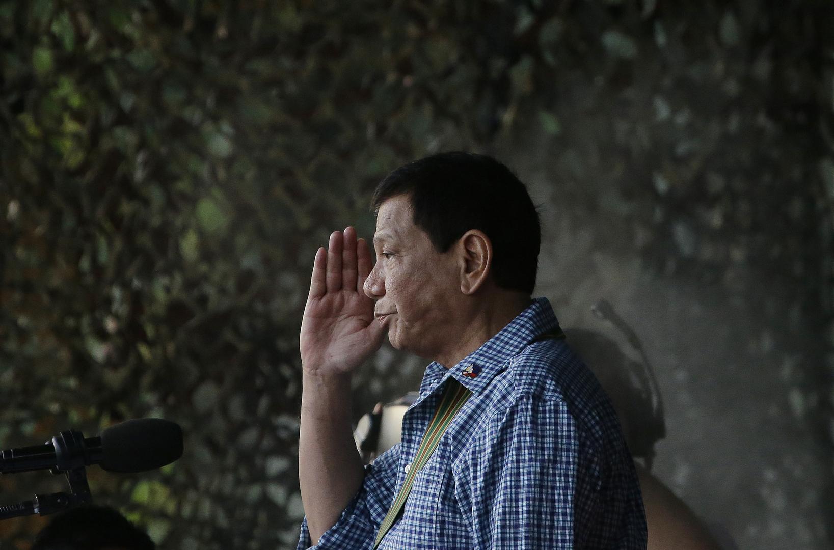 الفلبين.. دوتيرتي يعلن نيته اعتزال السياسة