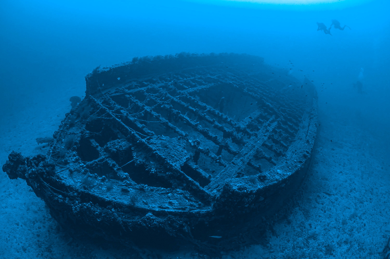 متنزه الدردنيل التاريخي تحت الماء.