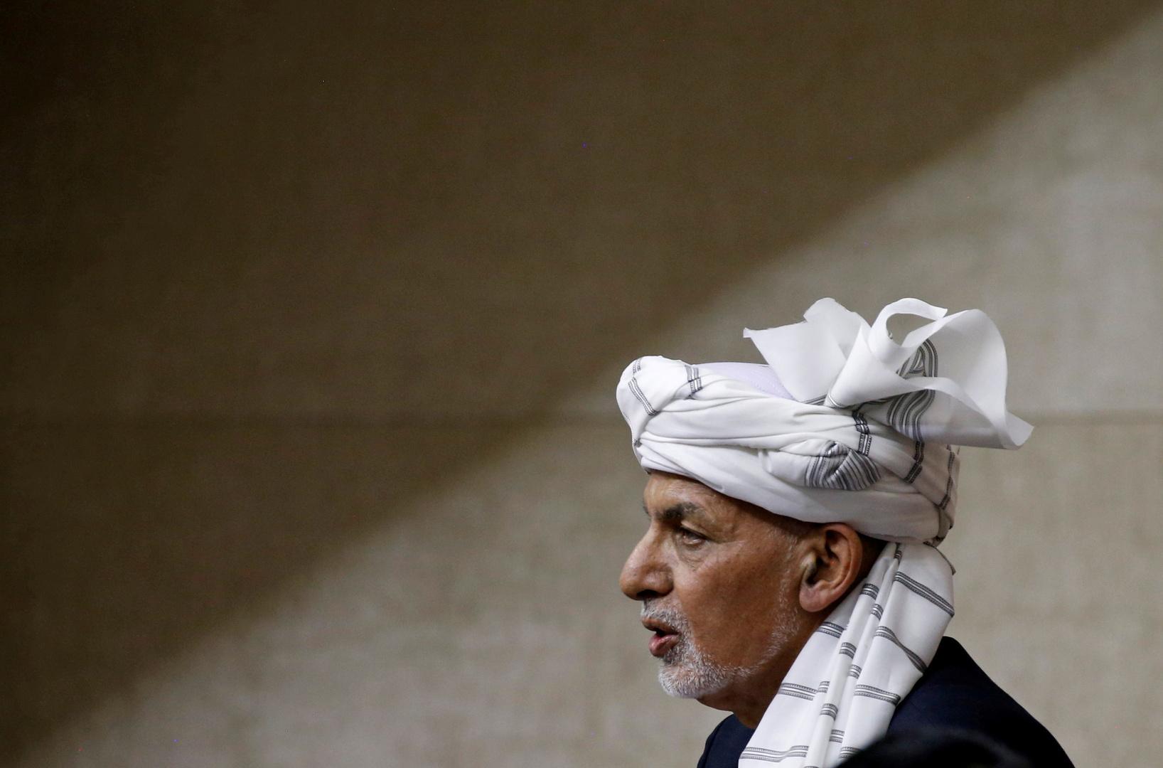الرئيس الأفغاني السابق، أشرف غني.