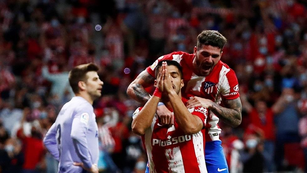 شاهد.. رد فعل كومان عندما سجل سواريز هدفا في شباك برشلونة
