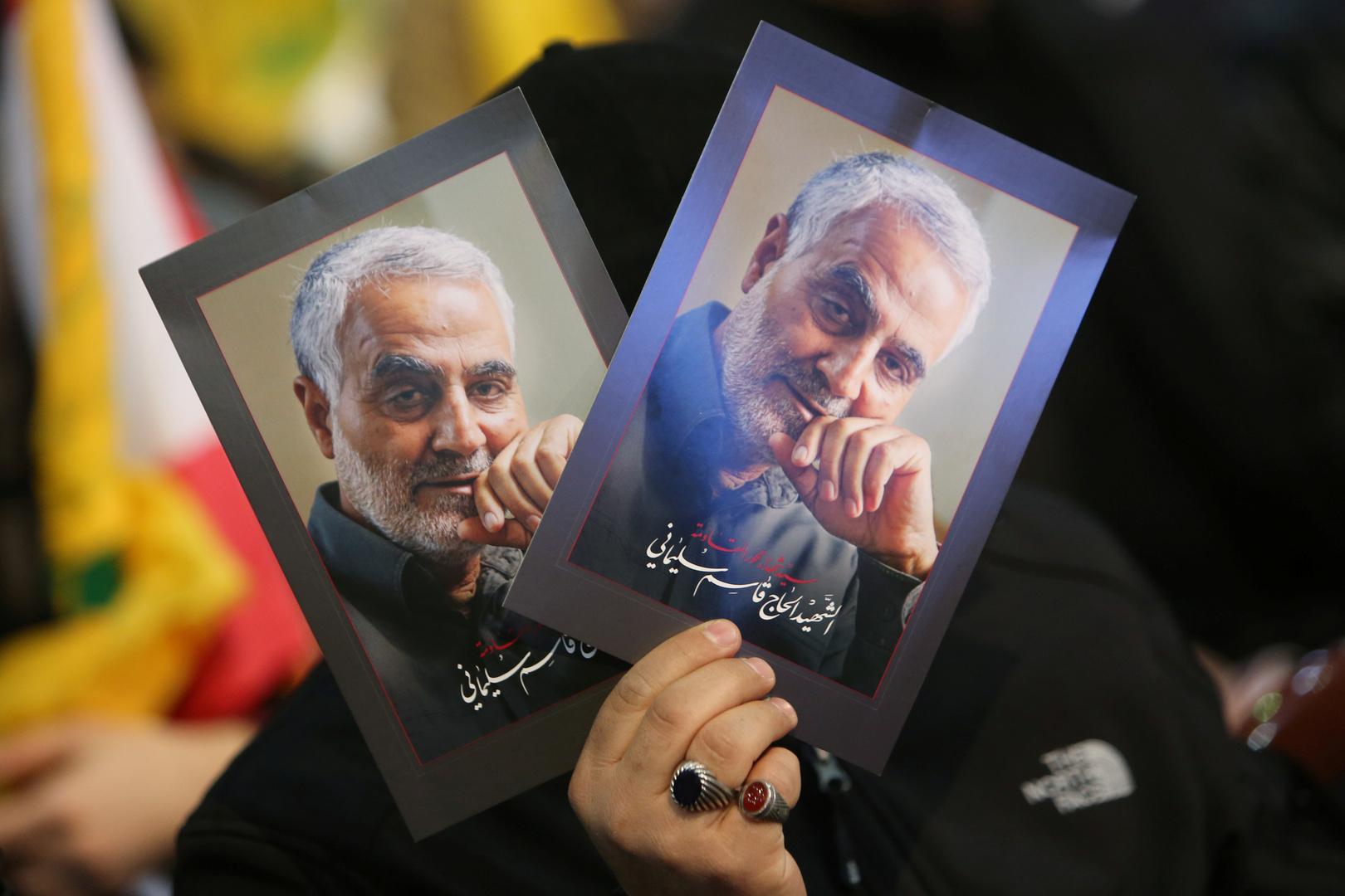 صورة قائد فيلق القدس في الحرس الثوري الإيراني الراحل قاسم سليماني