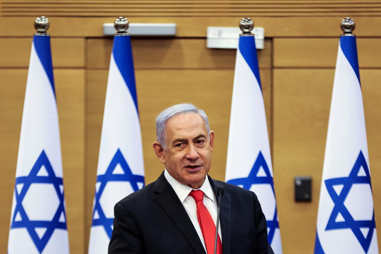 رئيس المعارضة الإسرائيلية بنيامين نتنياهو