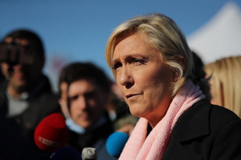 زعيمة اليمني المتطرف في فرنسا مارين لوبان