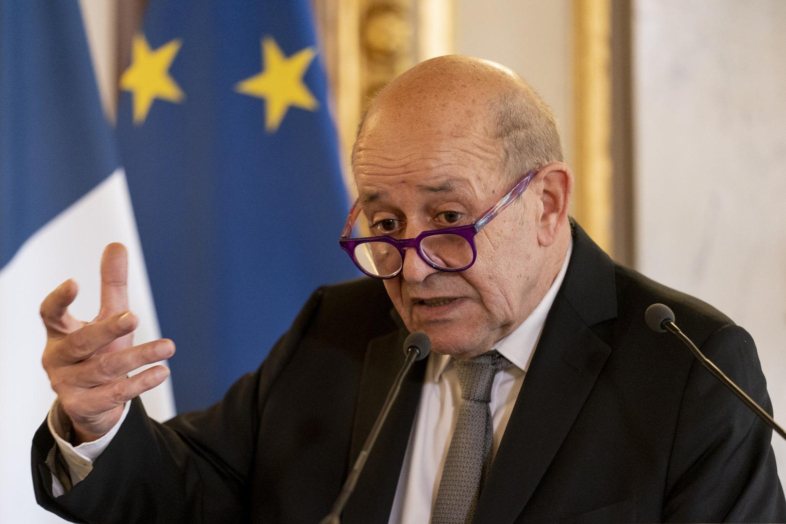 وزير الخارجية الفرنسي، جان إيف لو دريان.