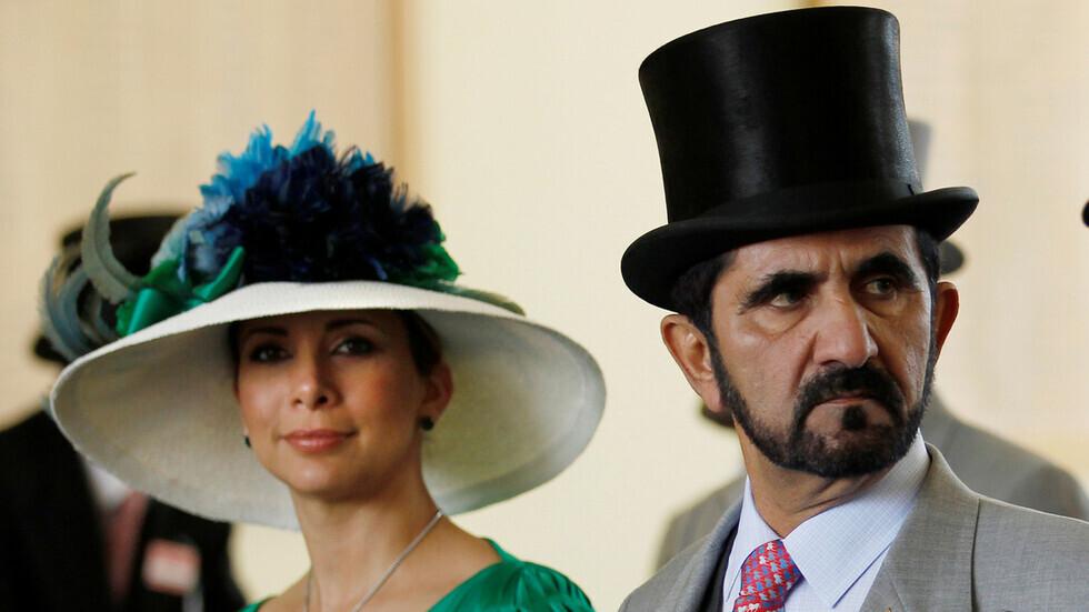 حاكم دبي، الشيخ محمد بن راشد آل مكتوم، وزوجته السابقة، الأميرة هيا بنت الحسين (بريطانيا، 2010).